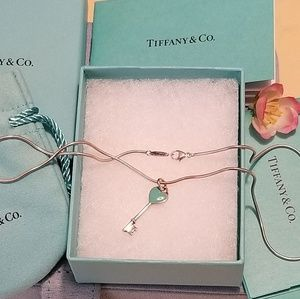 TIFFANY & Co Heart Key Pendant with Chain